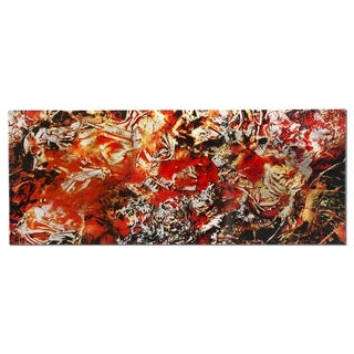 Emley 'Cinders' Textured Abstract Metal Wall Art