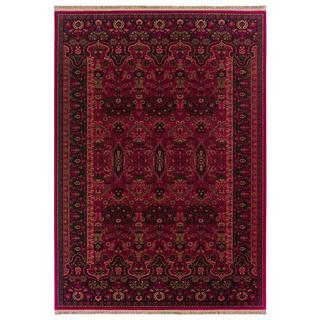 Kashimar Kerman Vase/ Brick Red Area Rug (6'6 x 10'1)
