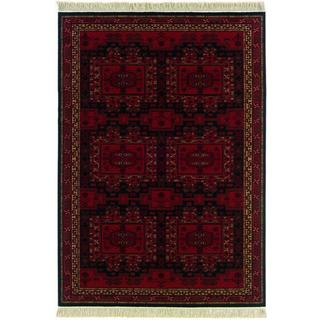 Kashimar Oushak/ Brick Red Area Rug (5'3 x 7'9)