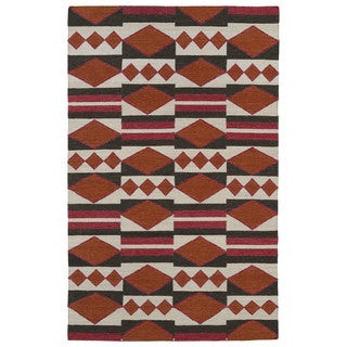 Flatweave TriBeCa Orange Wool Rug (8' x 10')