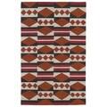 Flatweave TriBeCa Orange Wool Rug (8' x 10')