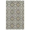 Flatweave TriBeCa Grey Motif Wool Rug (5' x 8')