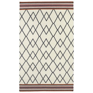 Flatweave Ziggy Grey Wool Rug (9' x 12')