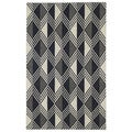 Flatweave Black Diamonds Wool Rug (5' x 8')