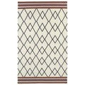 Flatweave Ziggy Grey Wool Rug (2' x 3')