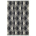 Flatweave Black Diamonds Wool Rug (8' x 10')
