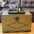 Decorative Jamestown Large Wood Steamer Trunk Wooden Treasure Hope Chest