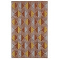 Flatweave Paprika Diamonds Wool Rug (8' x 10')