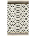 Flatweave Ziggy Black Wool Rug (2' x 3')
