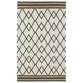 Flatweave TriBeCa Ziggy Black Wool Rug (8' x 10')