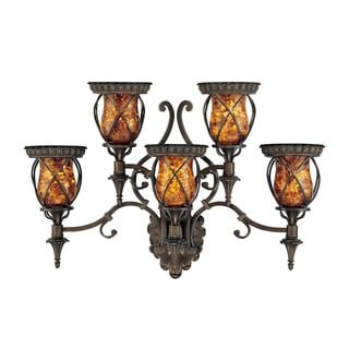 Malana 5-light Bronze Wall Sconce