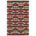 Flatweave TriBeCa Orange Wool Rug (5' x 8')