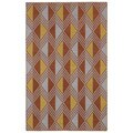Flatweave Paprika Diamonds Wool Rug (9' x 12')