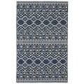 Flatweave TriBeCa Blue Wool Rug (3'6 x 5'6)