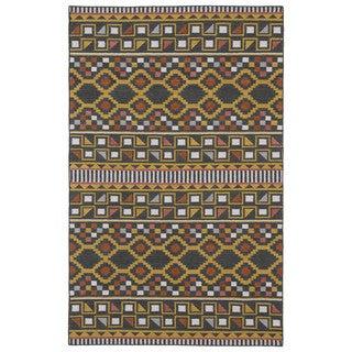 Flatweave TriBeCa Charcoal Wool Rug (8' x 10')