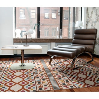 Flatweave TriBeCa Paprika Wool Rug (8' x 10')