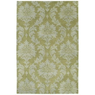 Swanky Avocado Damask Wool Rug (9'6 x 13')