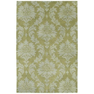 Swanky Avocado Damask Wool Rug (7'6 x 9')