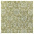 Swanky Avocado Damask Wool Rug (7'9 Square)