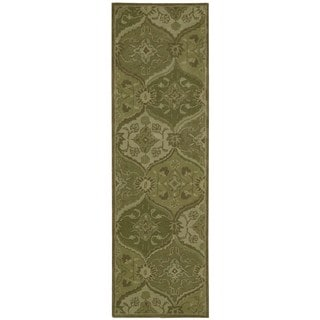 Nourison Hand-tufted India House Green Rug (2'3 x 7'6)