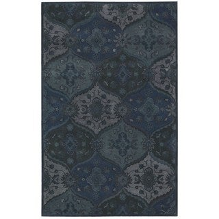 Nourison Hand-tufted India House Denim Rug (3'6 x 5'6)