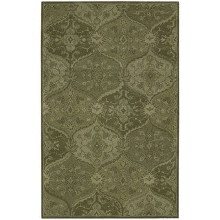 Nourison Hand-tufted India House Green Rug (3'6 x 5'6)