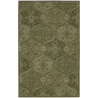 Hand-tufted India House Green Wool Rug (2'6 x 4')