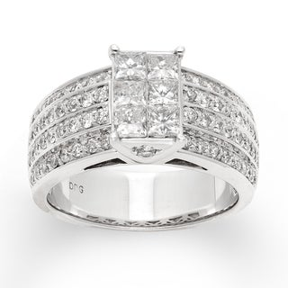 14k White Gold 2ct TDW Princess-cut Diamond Ring (H-I, I1-I2)