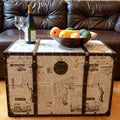 Decorative New York Wooden Treasure Hope Chest