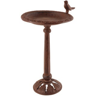 Esschert Design Cast Iron Birdbath on Stand