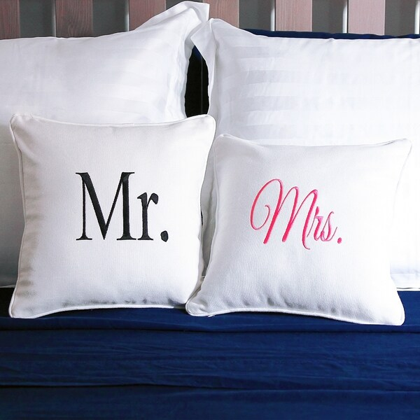 Mr. & Mrs. Throw Pillow Set