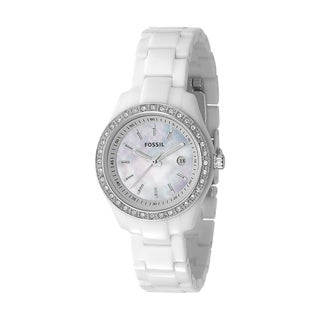 Fossil Women's White Resin Bracelet Watch