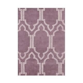 Alliyah Handmade Purple New Zealand Blend Wool Area Rug (8' x 10')