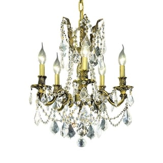 Christopher Knight Home Meilen 5-light Royal Cut Crystal and Antique Bronze Chandelier