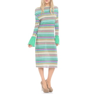 Women's Chevron Print Long Sleeve Dress