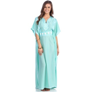 Fatima Women's Moroccan Caftan with Handmade Embroidery
