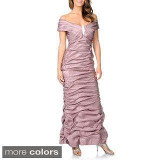 Cachet Women's Iridescent Rouched Gown