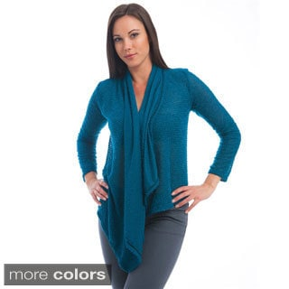 Stanzino Women's Mesh Back Open Cardigan