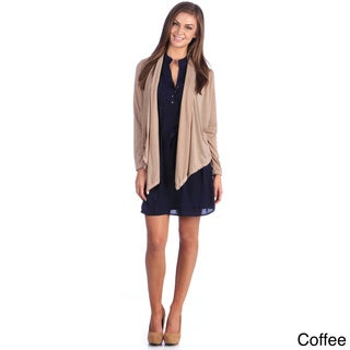 Stanzino Women's Lace Back Open Cardigan