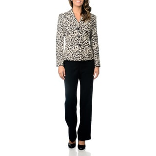 Danillo Women's Notch Collar Novelty Pant Suit