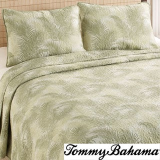 Tommy Bahama Tossed Palm Cotton 3-piece Quilt Set