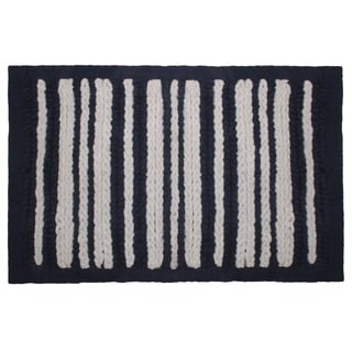 Nautical Stripe Chenille Bath Rug