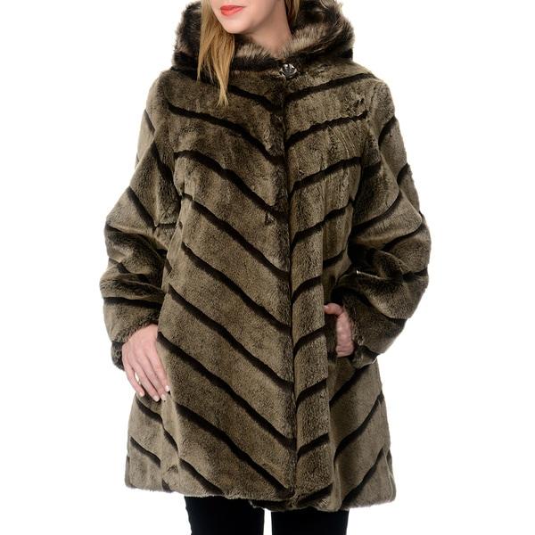 Nuage Women's Plus Size Samara Faux Fur Short Coat