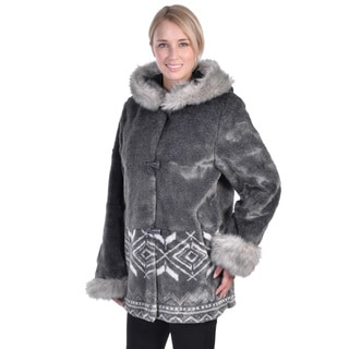 Nuage Women's 'Marco' Faux Fur Scene Coat