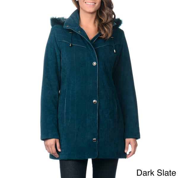 Nuage Women's Detachable Hood Lycroft Jacket with Stand Collar
