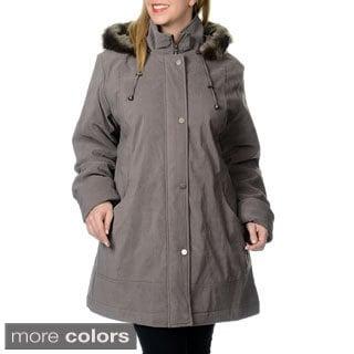 Nuage Women's Plus Size Lycroft Jacket w/Detachable Faux Fur Hood