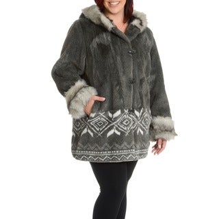 Nuage Plus Size Marco Faux Fur Scene Coat