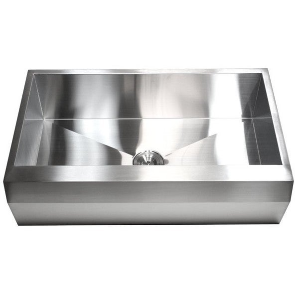... Stainless Steel Farm Apron Well Angled 50/50 Double Bowl Kitchen Sink