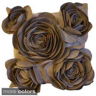 Rose Petal Collection 20-inch Down Fill Decorative Pillow