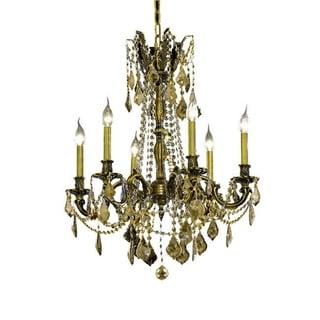 Somette Lucerne 6-light Royal Cut Gold Crystal and Antique Bronze Chandelier